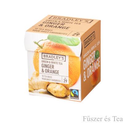 Bradley's Zöld tea - Fehér tea / Gyömbér-Narancs tea (ginger-orange)